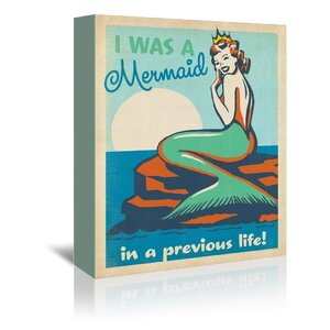 Mermaid Queen Vintage Advertisement on Wrapped Canvas by East Urban Home