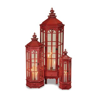 Read Reviews Grand Tour 3 Piece Wood Lantern Set By Bloomsbury Market