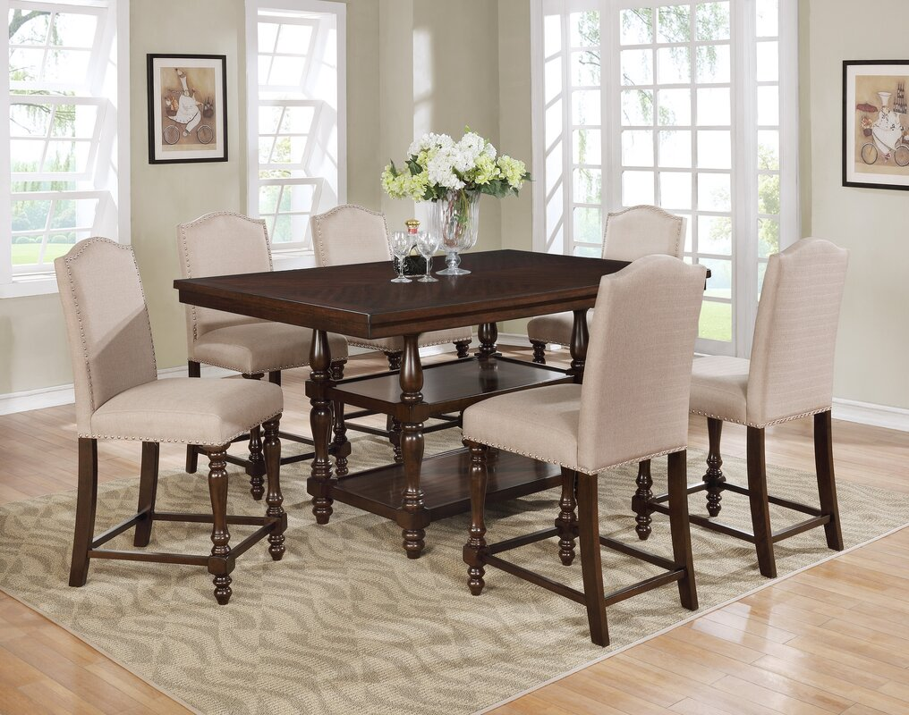 counter piece kitchen number products item dining set brown taylor jofran with cherry height table