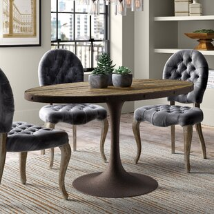 Best Price Amherst Industrial Wood Top Dining Table By Greyleigh