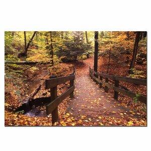 Autumn Bridge by Kurt Shaffer Photographic Print on Canvas by Trademark Fine Art