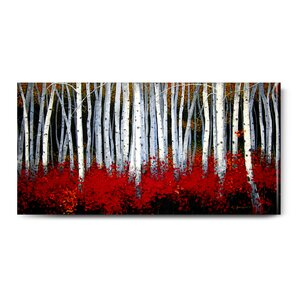 Aspens Outdoor Canvas Wall by Michael Swanson Painting Prints on Canvas by Cape Craftsmen