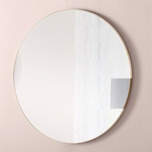Willa Arlo Interiors Alexandrina Eclectic Framed Round Wall Mirror