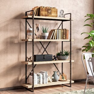 Hardwick Metal Wood Bookcase