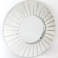 Beveled Wall Mirror wayborn round beveled wall mirror & reviews | wayfair