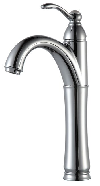 Kraus Vessel Mixer Single Hole Bathroom Faucet with Optional Pop Up ...