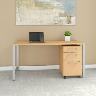 Inexpensive 400 Series Desk with File Cabinet By Bush Business Furniture
