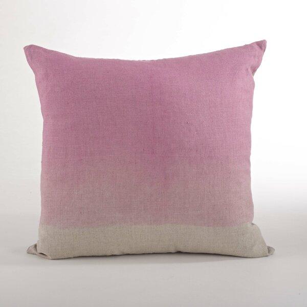 Saro Maratea Linen Feather Ombre Throw Pillow Wayfair