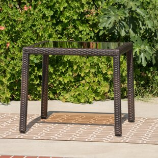 Rosenda Outdoor Iron Side Table by Highland Dunes
