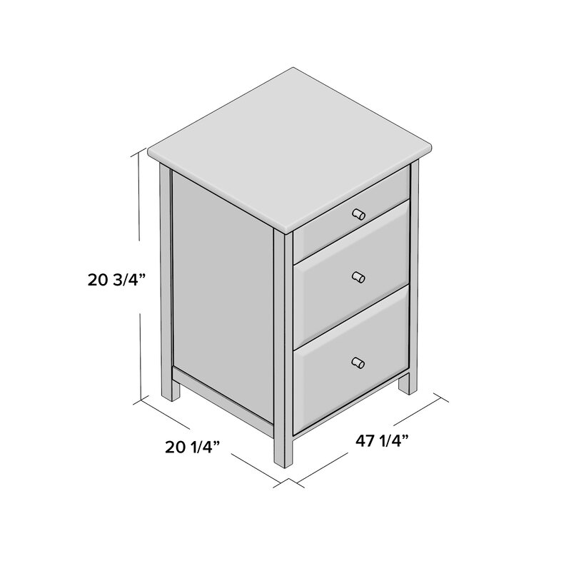 Gifford 3 Drawer File Cabinet