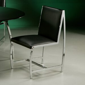 Belado Side Chair in Leather Touch Black by Impacterra