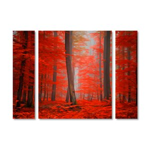 'Speaking of Tongues' by Philippe Sainte-Laudy 3 Piece Graphic Art on Wrapped Canvas Set by Trademark Fine Art