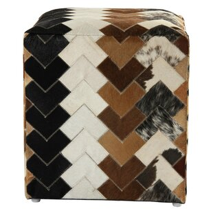 Great Falls Arrow Leather Cube Ottoman