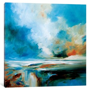 Aqua Haze Painting on Wrapped Canvas by Latitude Run