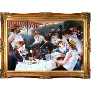 Luncheon of The Boating Party by Pierre-Auguste Renoir Framed Painting by Tori Home