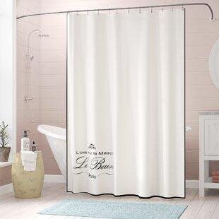 Best Choices Noeline Paris Connection Le Bain Cotton Shower Curtain ByLark Manor