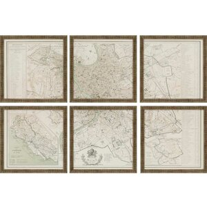 Rome by Benoist 6 Piece Framed Graphic Art Set by Paragon