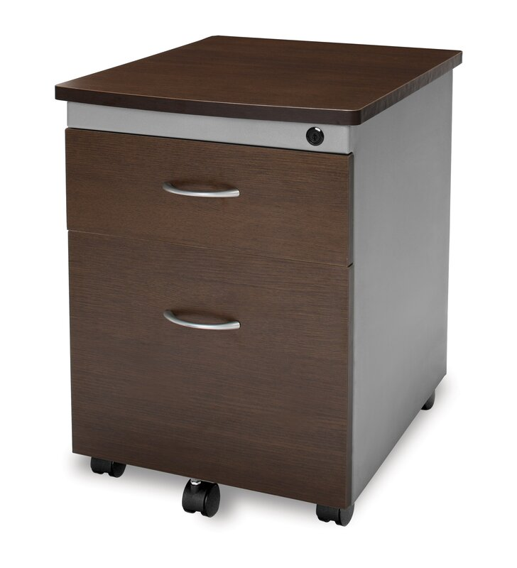 modular mobile pedestal 2drawer file box cabinet