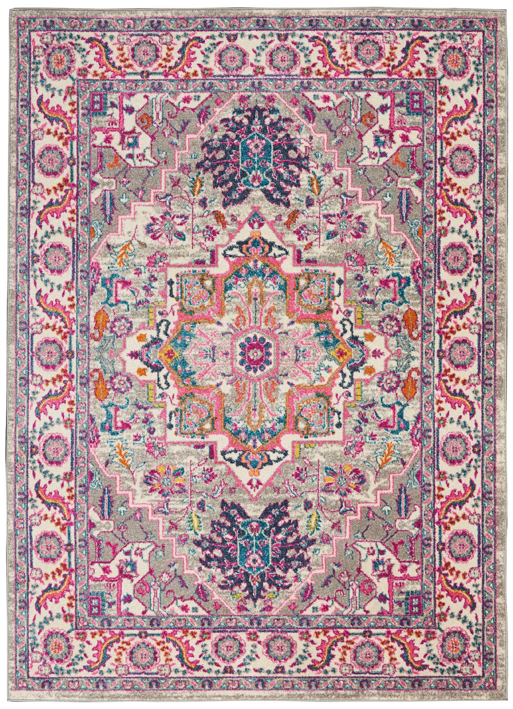 Blue Elephant Bradburn Power Loom Light Grey Pink Rug Reviews Wayfair Co Uk