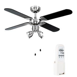 Modern contemporary ceiling fans wayfair 106cm scimitar 4 blade ceiling fan aloadofball Images
