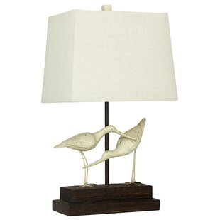 Savings Glenva Sandpipers on Sand 28 Table Lamp By Bay Isle Home