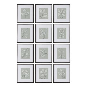 Decorative 12 Piece Framed Graphic Art by Darby Home Co