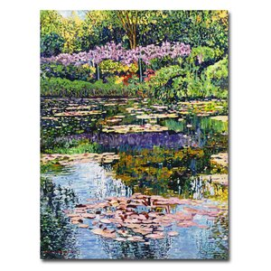 'Giverny Reflections' by David Lloyd Glover Framed Painting Print on Wrapped Canvas by Trademark Fine Art