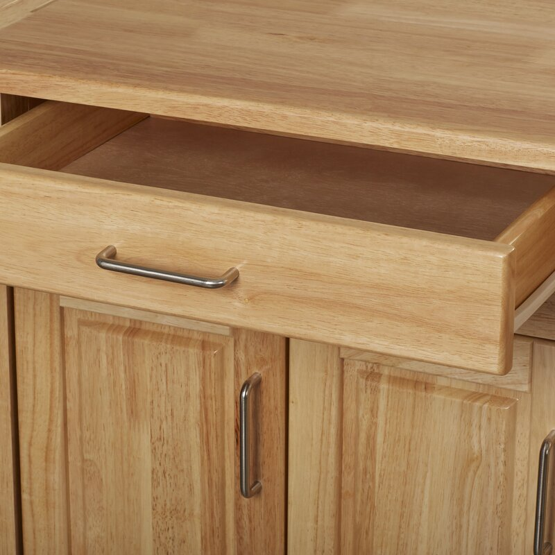August grove epping kitchen island with wood top reviews for Outdoor furniture epping