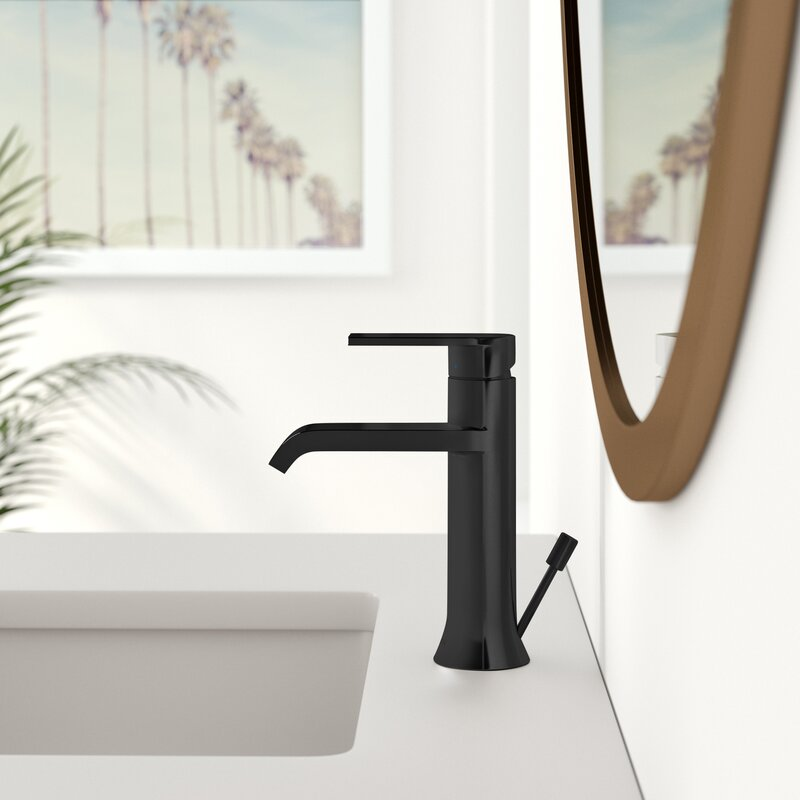 Genta Single Hole Bathroom Faucet With Drain Assembly Reviews Allmodern