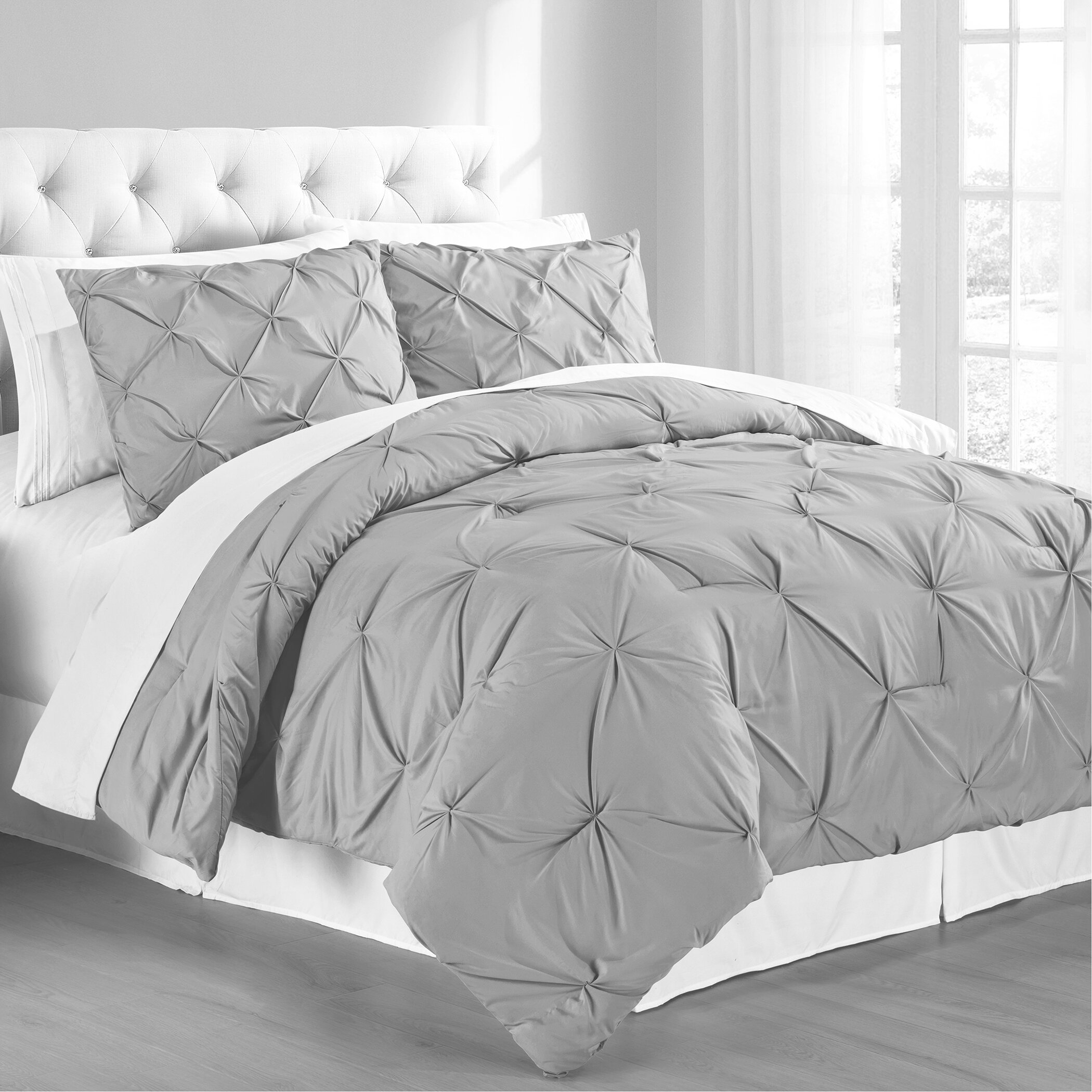 Gray Silver White Comforters You Ll Love In 2021 Wayfair