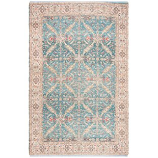 Abington Hand-Loomed Cotton Navy/Creme Area Rug by Bungalow Rose
