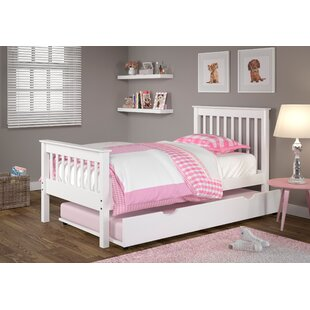 Best Reviews Cloey Twin Slat Bed with Trundle ByHarriet Bee
