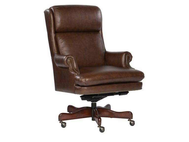 High Back Leather Executive Chair By Hekman Lowprice