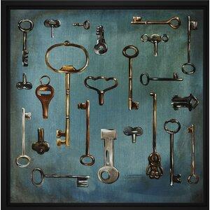 'Antique Keys' Framed Graphic Art on Canvas by PTM Images