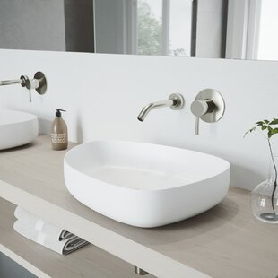 Bargain VIGO Matte Stone Specialty Vessel Bathroom Sink with Faucet By VIGO