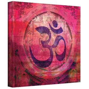 'Om Mandala' Graphic Art on Wrapped Canvas by Bloomsbury Market