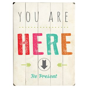 Be Present Textual Art Multi-Piece Image on Wood by Artehouse LLC