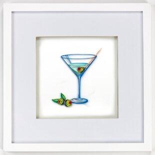 Gin Martini Framed Wall Decor