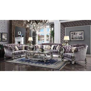 3 Piece Velvet Living Room Set by Clc