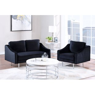 3 Piece Sectional Sofa Set Morden Style Couch Furniture Upholstered Sectional Armchair, Loveseat And Three Seat For Home Or Office (1+2 Seat) by Everly Quinn