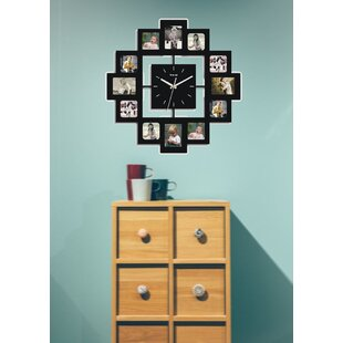 Wall Clock With Picture Frames Wayfair