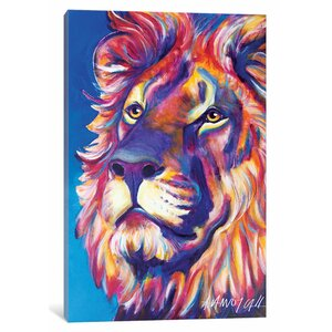 'Cecil the Lion' Painting Print on Canvas by East Urban Home