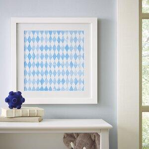 Diamond Repeat Pattern Framed Print