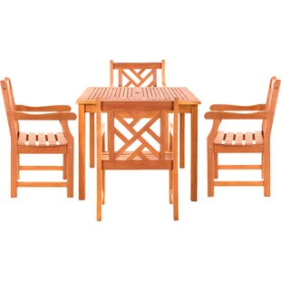 Danis 5 Piece Dining Set By Vifah
