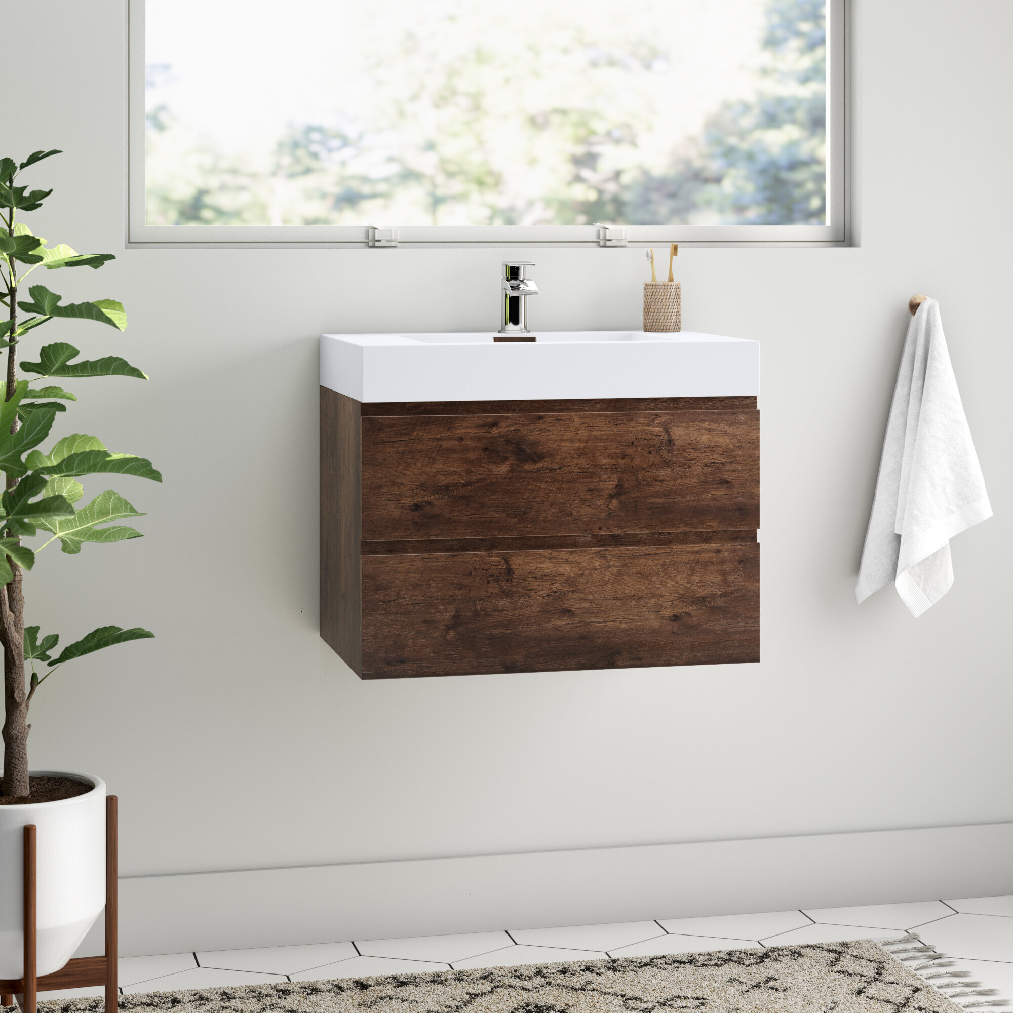 Isabela 30 Wall Mounted Single Bathroom Vanity Set Allmodern