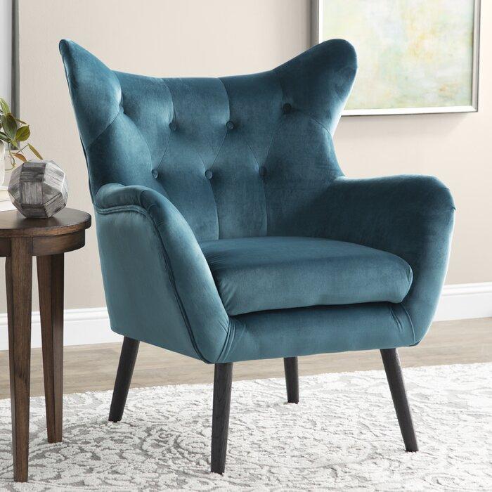 Velvet Wing Back Occasional Chair