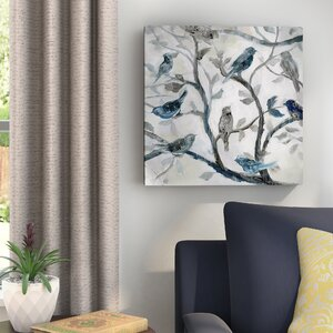 'Morning Song II' Oil Painting Print on Wrapped Canvas by Andover Mills