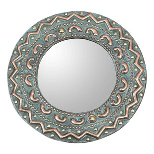Bloomsbury Market Leadbetter Colonial Sun Copper and Bronze Wall Mirror