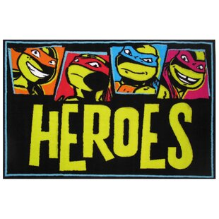 Big Save Ninja Turtles Heroes Area Rug By Fun Rugs