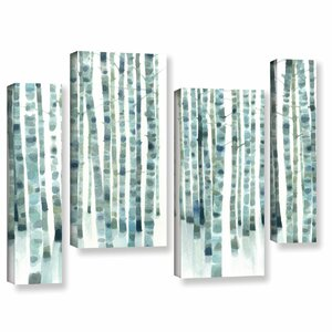 Neutral Birch Grove 4 Piece Wall Art on Wrapped Canvas Set by Ivy Bronx